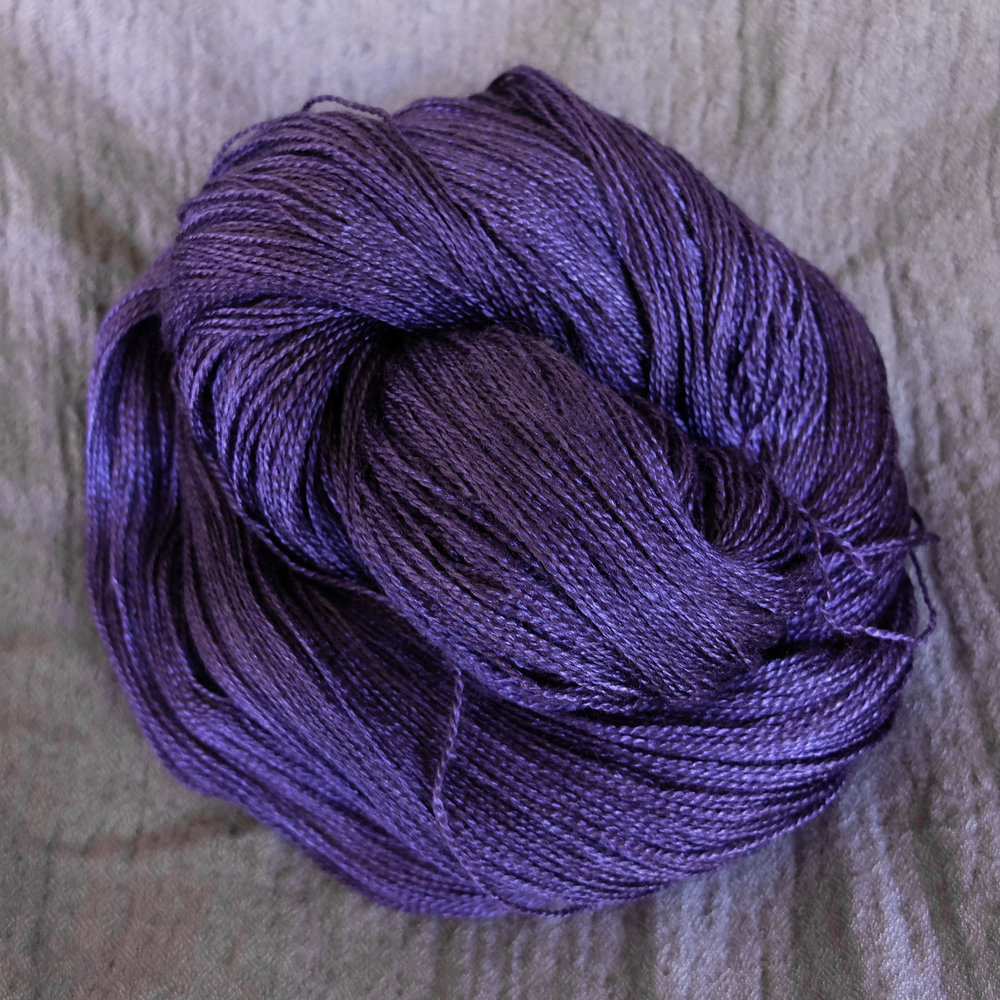 The Mistress of Seidr shown on Lace - BFL/Silk