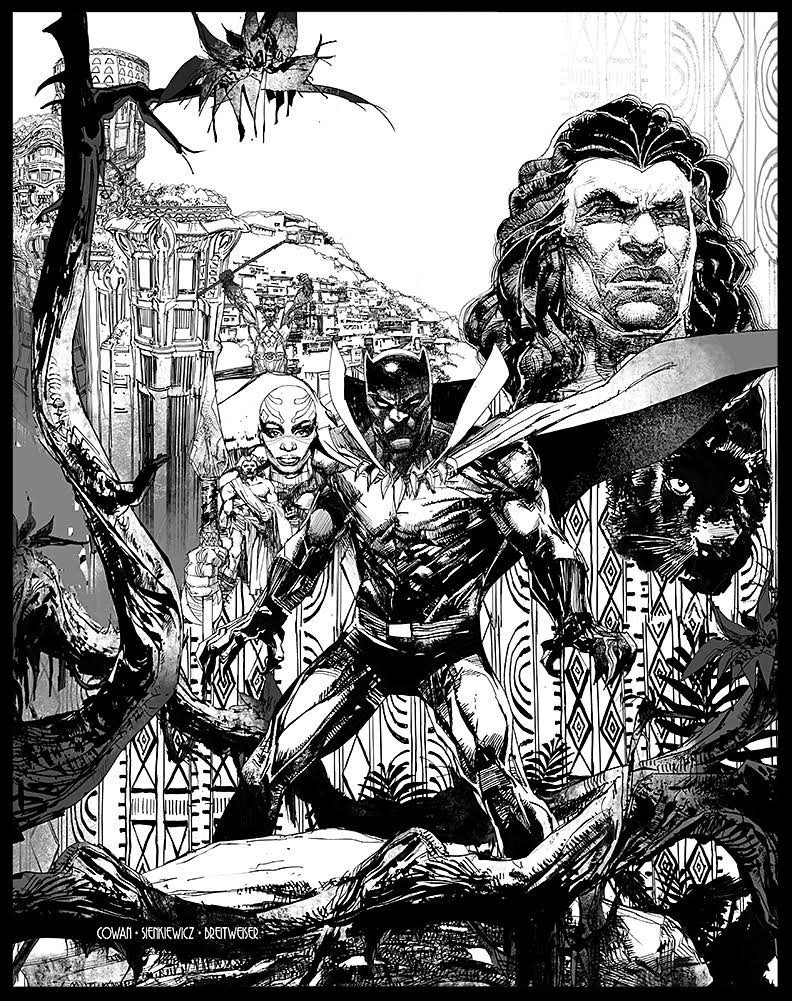 "Black Panter ""History of A King"" - Book Cover - Pencils & Inks"