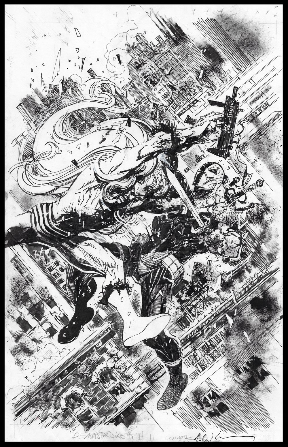 Deathstroke #11 - Cover - Pencils & Inks