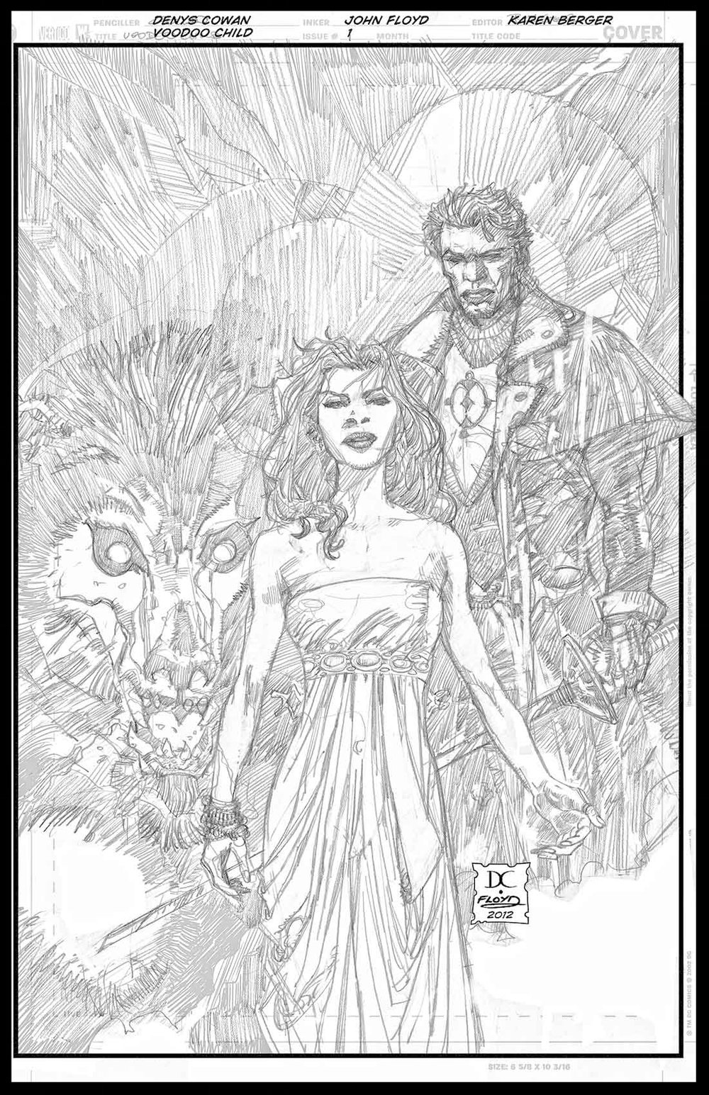 Voodoo Child #1 - Cover - Pencils