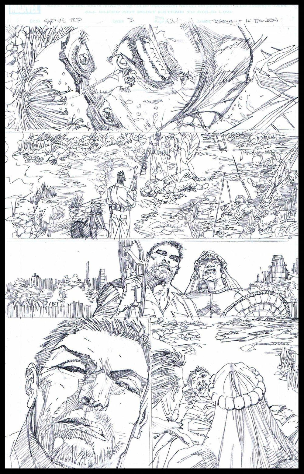 Flags of Our Fathers #3 - Page 1 - Pencils