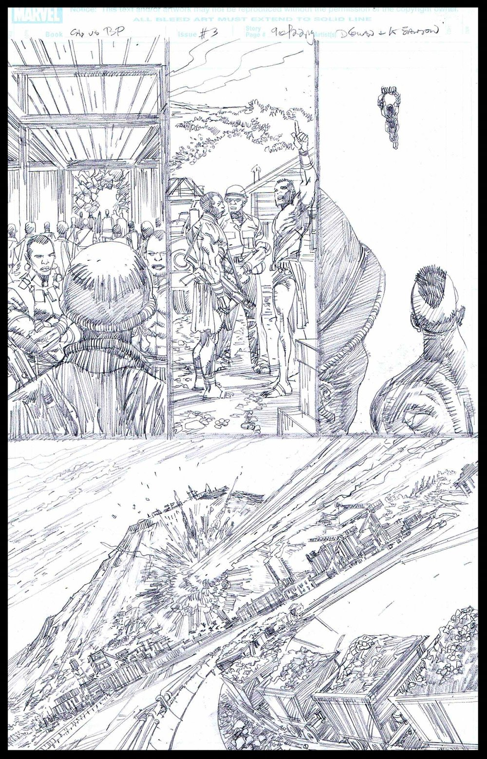 Flags of Our Fathers #3 - Page 9 - Pencils