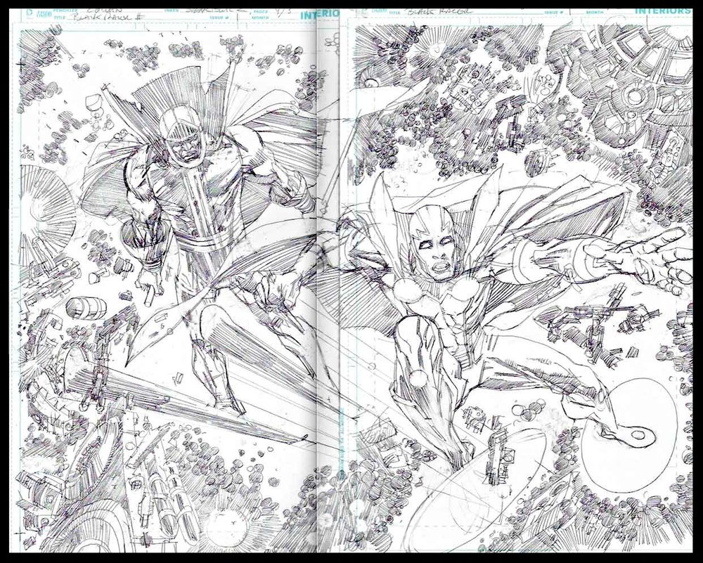 Black Racer #1 - Pages 4-5 - Pencils