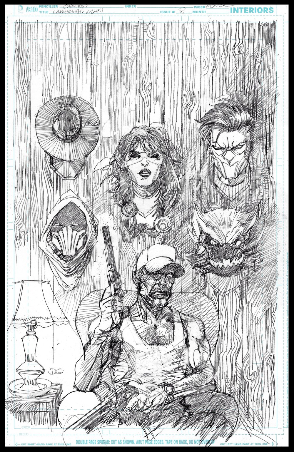 Immortal Men #8 (unpublished) - Cover - Pencils