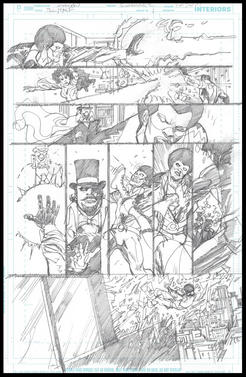 Black Lightning-Hong Kong Phooey #1 - Page 1 - Pencils