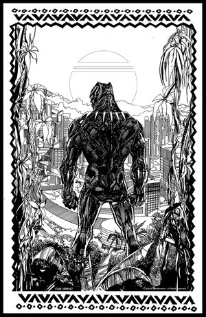 Black Panther - Mondo Poster - Pencils & Inks