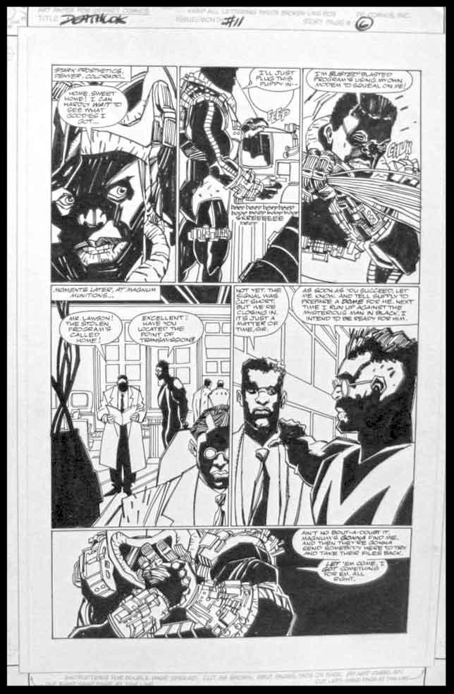 Deathlok #11 - Page 6 - Pencils & Inks