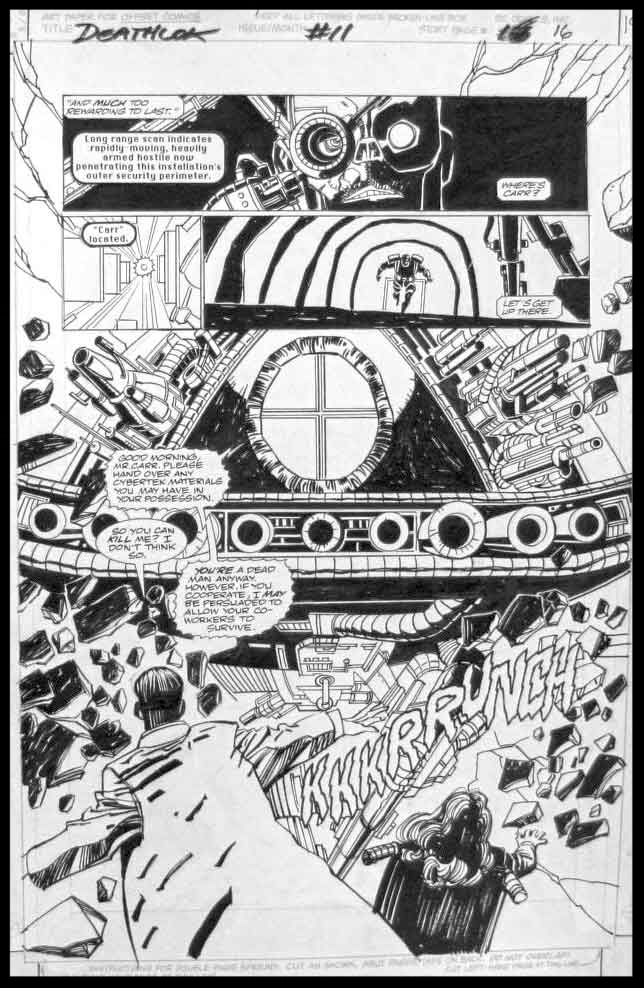Deathlok #11 - Page 16 - Pencils & Inks