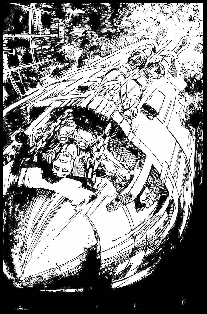 Black Racer #1 - Page 2 - Pencils & Inks
