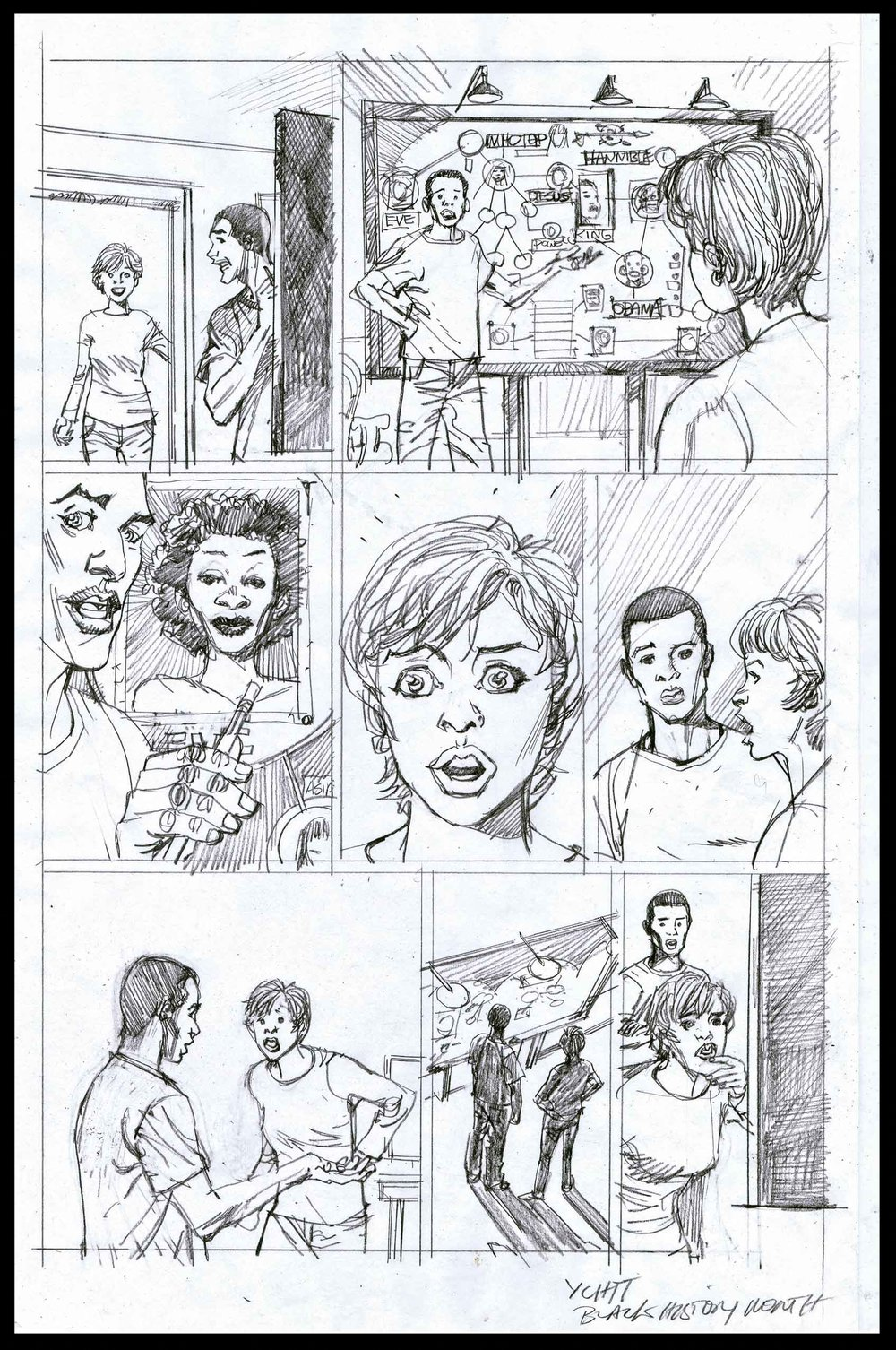 You Can't Handle The Truth #18 - Monthly Strip for Ebony - Pencils