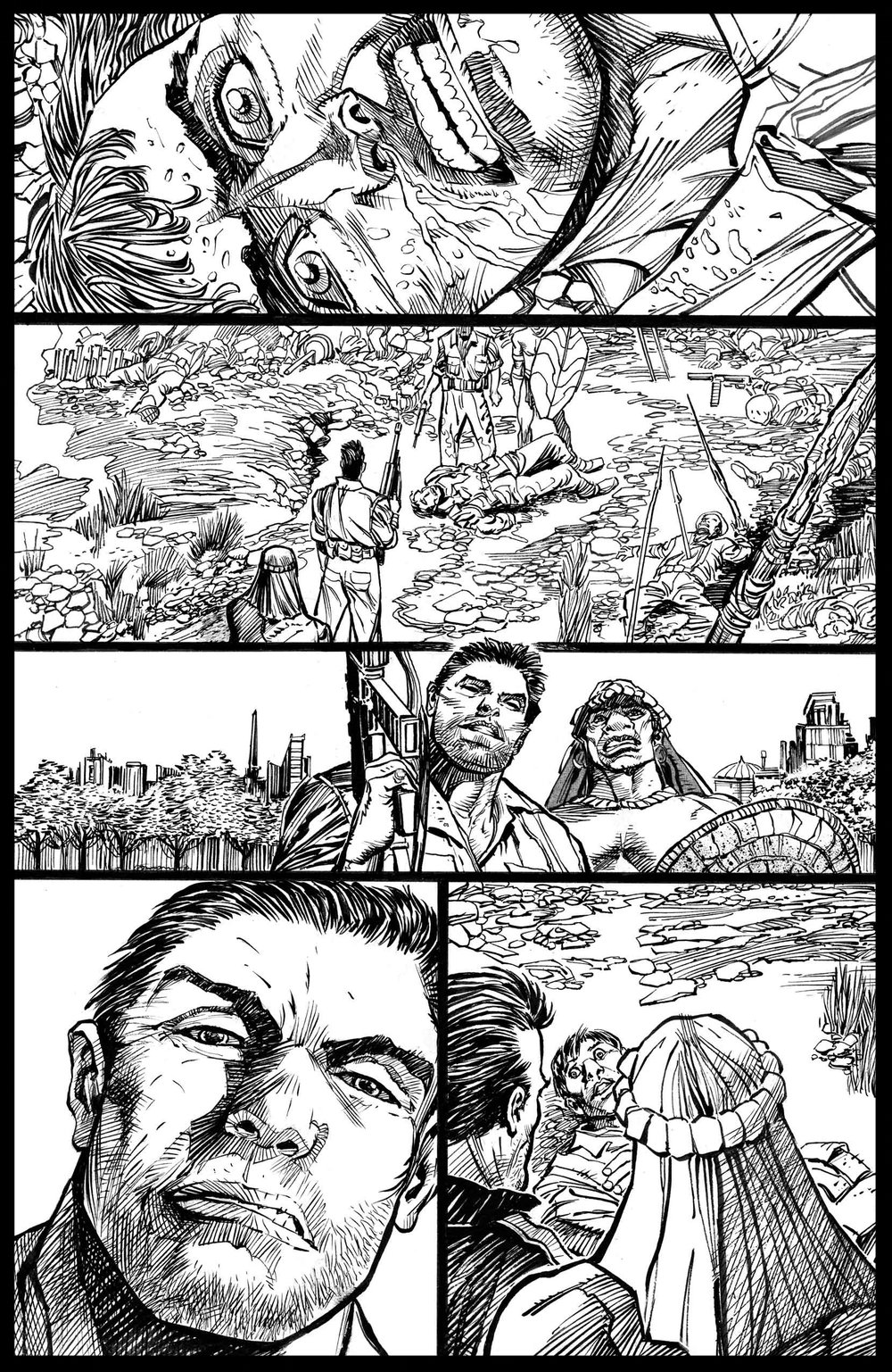 Flags of Our Fathers #3 - Page 1 - Pencils & Inks