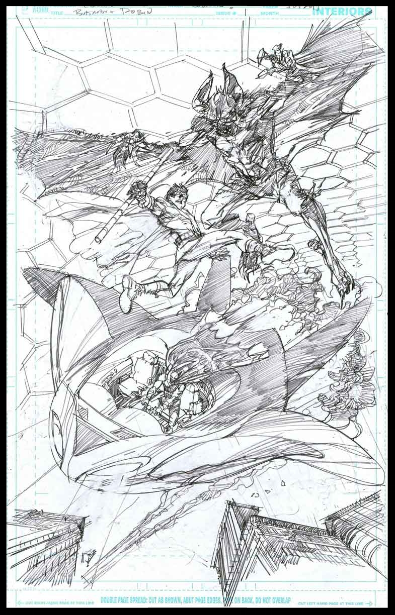 Batman & Robin #1 - Page 5 - Pencils