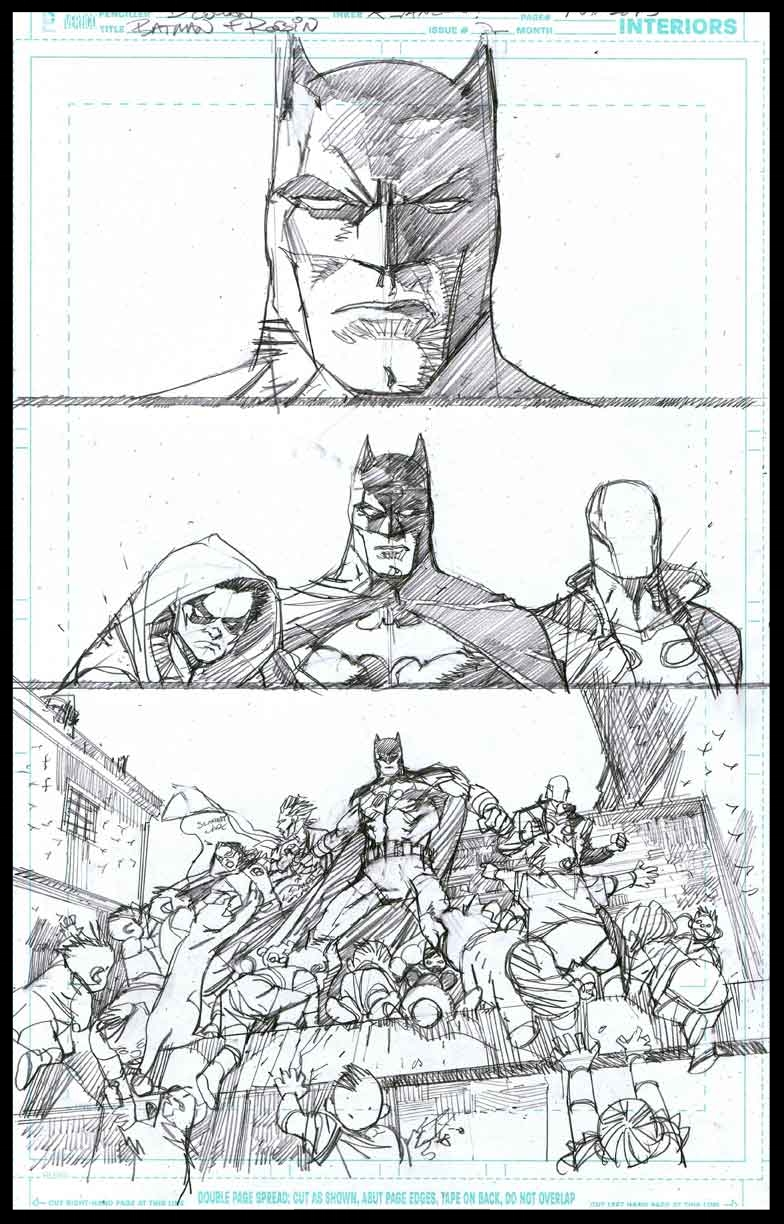 Batman & Robin #2 - Page 1 - Pencils