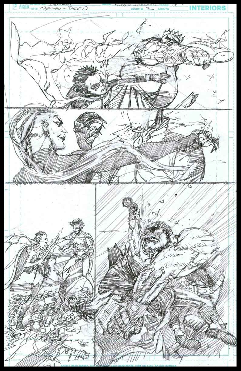 Batman & Robin #2 - Page 6 - Pencils