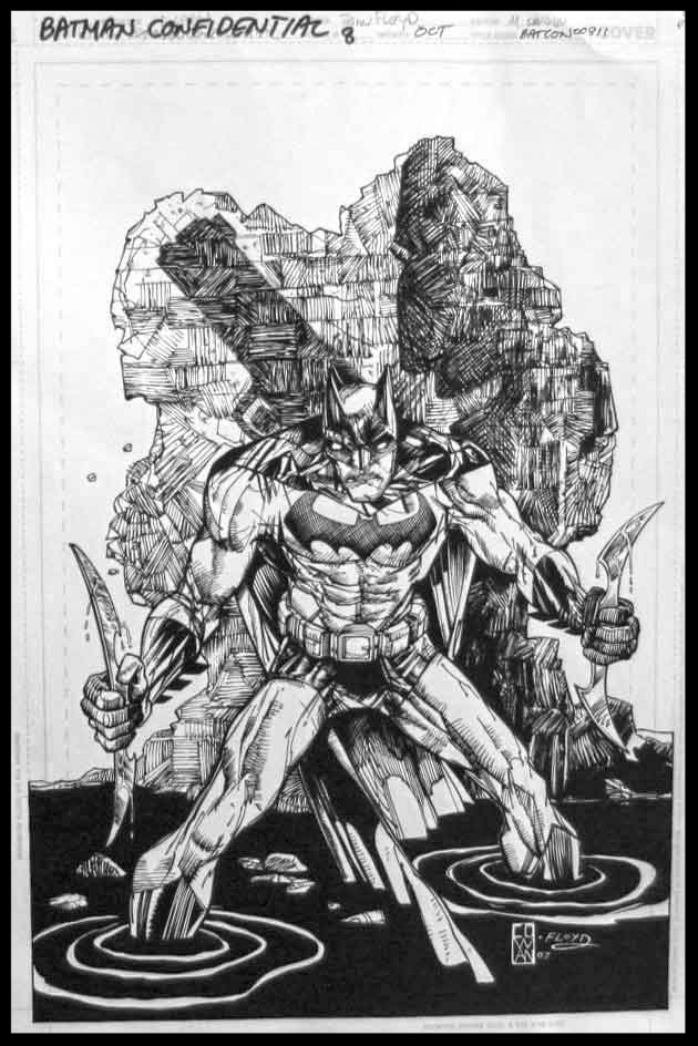 Batman Confidential #8 - Cover - Pencils & Inks