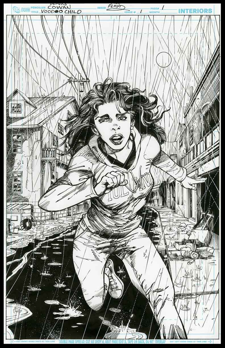 Voodoo Child #1 - Page 1 - Pencils & Inks