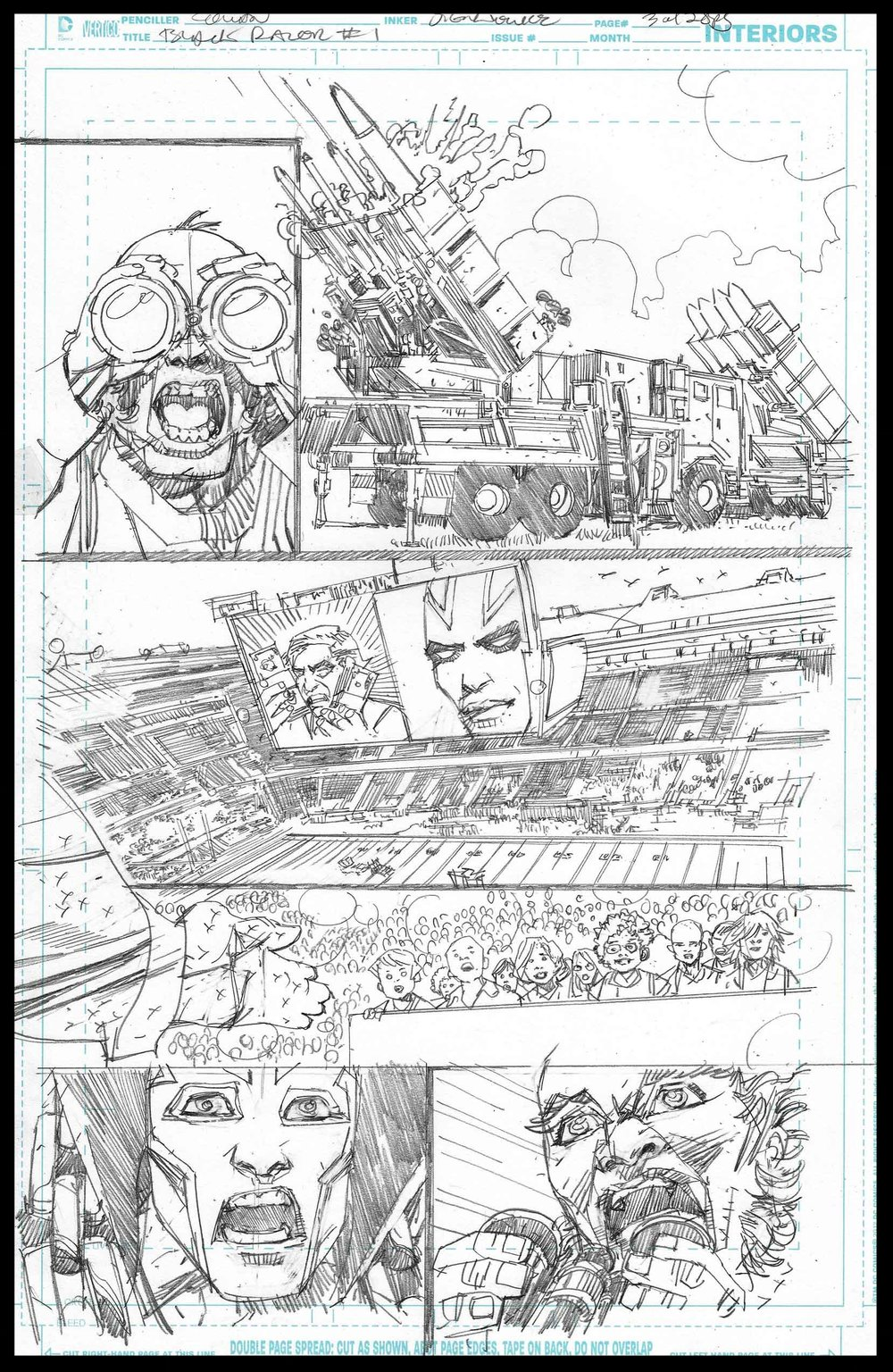 Black Racer #1 - Page 3 - Pencils
