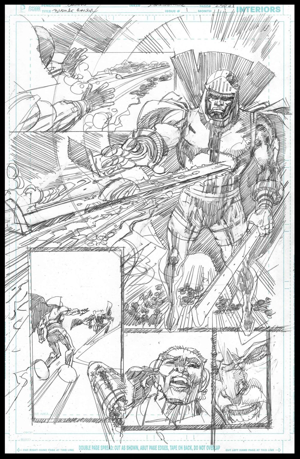 Black Racer #1 - Page 23 - Pencils