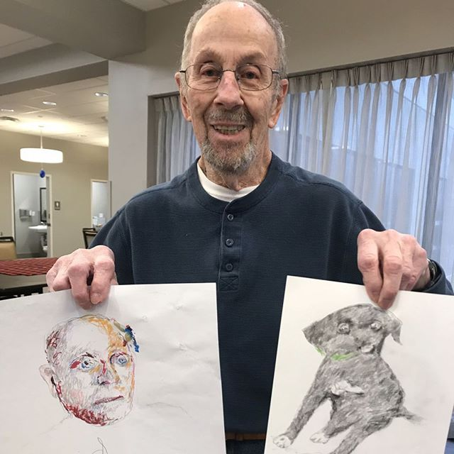 Welcome to one of our newest Guest!  He has a wonderful talent of drawing.