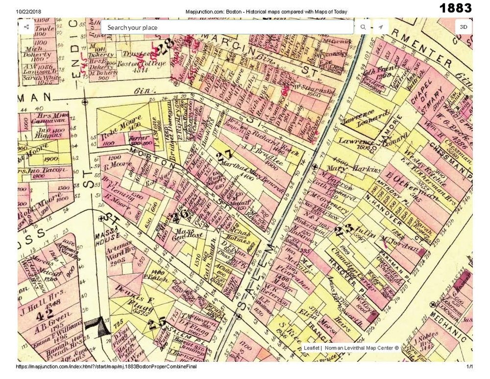1883 historic map traces the development of cutillo park and morton street area