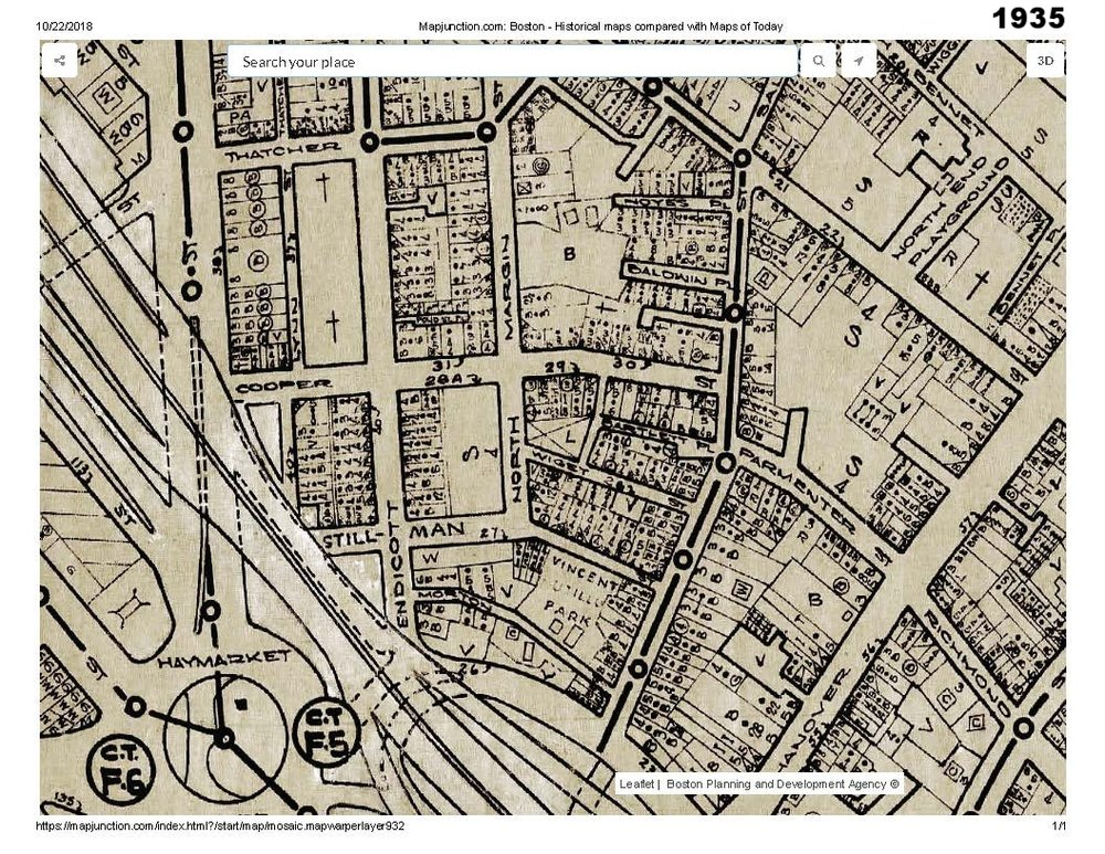 1935 historic map traces the development of cutillo park and morton street area