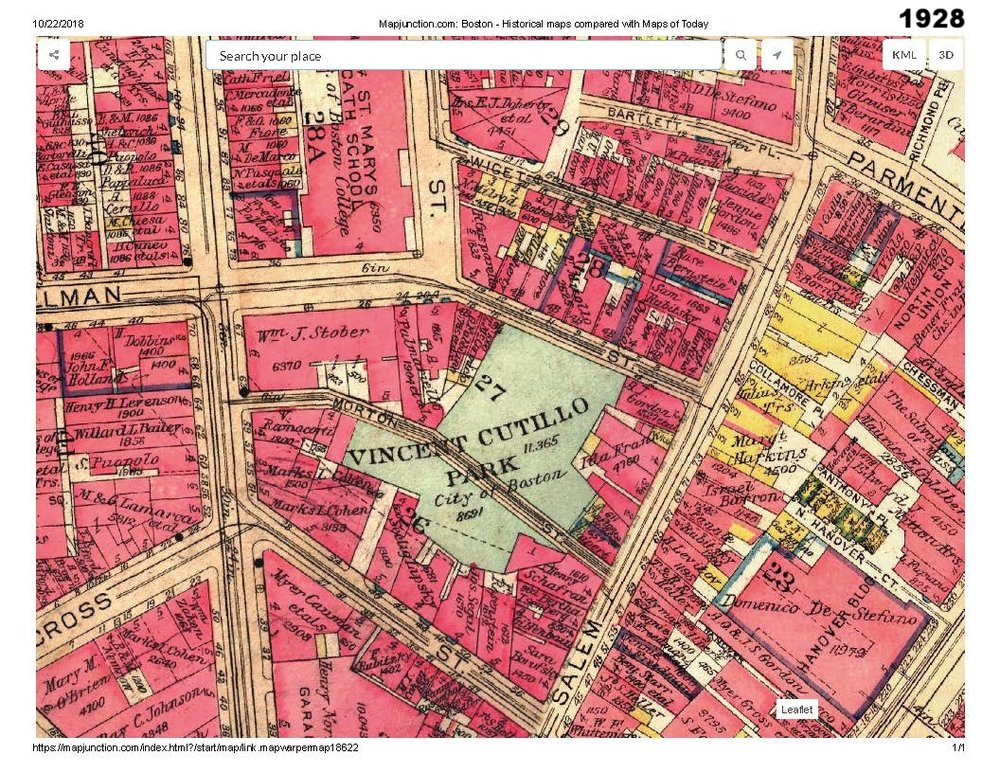 1928 historic map traces the development of cutillo park and morton street area