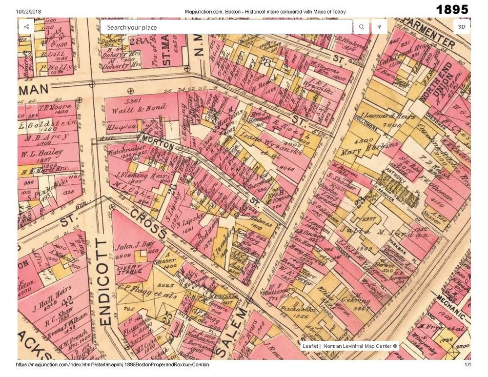 1895 historic map traces the development of cutillo park and morton street area