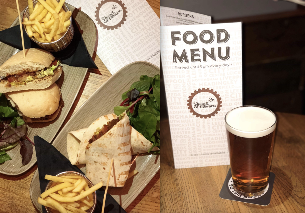 Full Steam Ahead - we loved visiting The Head of Steam this week - what better way to conduct a meeting than with a pint of Motorhead Road Crew pale ale and some delicious food! The staff were super friendly, the decor was bang on trend and both the food and drinks menu made us start 10 minutes late for our briefing…(it all sounded so tasty we simply could NOT decide what to have!) We can't wait to come back and try a burger & some pizza and test out the new Tiny Rebel ale that's featuring on their pumps!