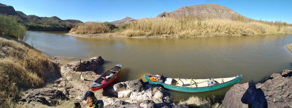 Canoe instruction in Big Bend ranch state park!