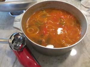 unblended soup
