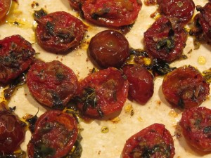 Close up of roasted tomatoes