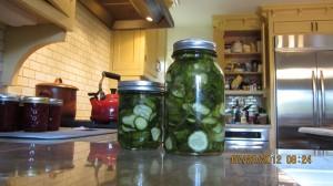 pickles in kitchen