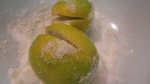 Salting the fruit