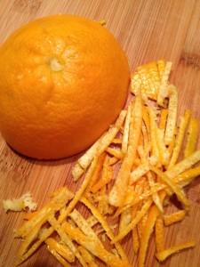 julienned orange