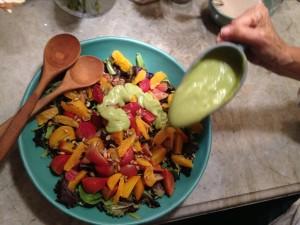 Beet salad dressed