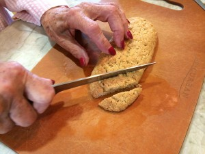 cutting the loaf