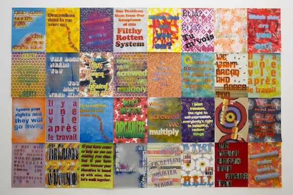Andrea Bowers,  Workers' Rights Posters , 2013