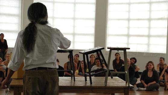 Image Credit: George Emilio Sánchez leading a workshop as part of  Hemispheric Institute 's 7th Encuentro. Photo by Niki Kekos.