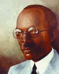 """Jewel CHARLES HENRY CHAPMAN(1870-1934) - Chapman entered higher education and eventually became Professor of Agriculture at what is now Florida A&M University. A university funeral was held with considerable fraternity participation when he became the first Jewel to enter Omega Chapter in 1934. Described as """"a brother beloved in the bonds,"""" Chapman was a founder of FAMU's Beta Nu Chapter. During the organization stages of Alpha Chapter, he was the first chairman of the Committees on Initiation and Organization."""