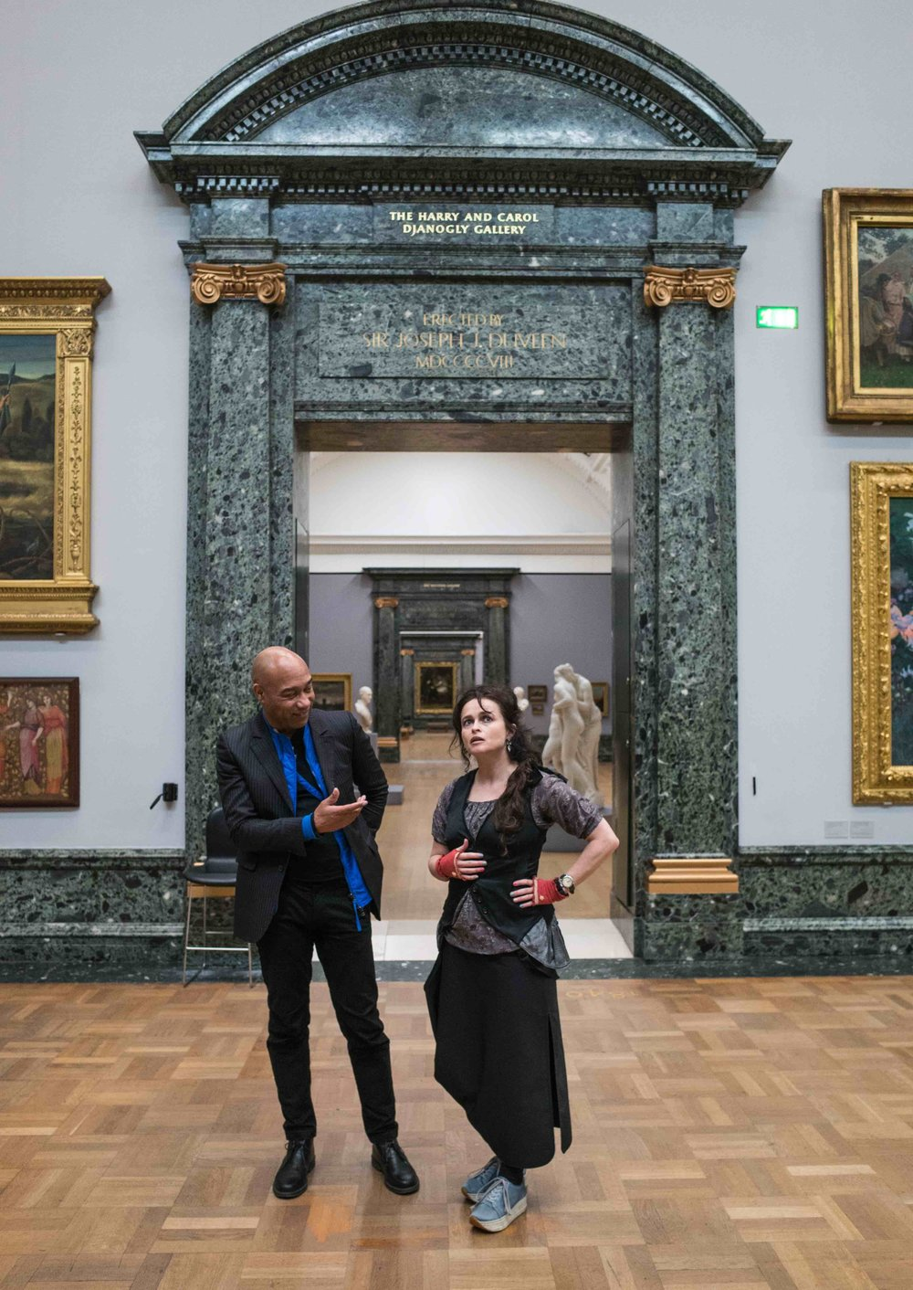 21. R0000529 Gus and Helena Bonham Carter at the Tate Britain_.jpg