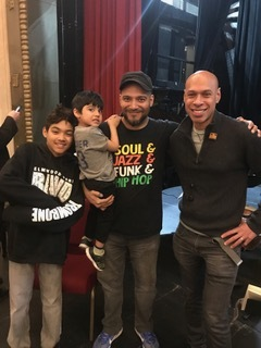 w/ my boys and Joshua Redman