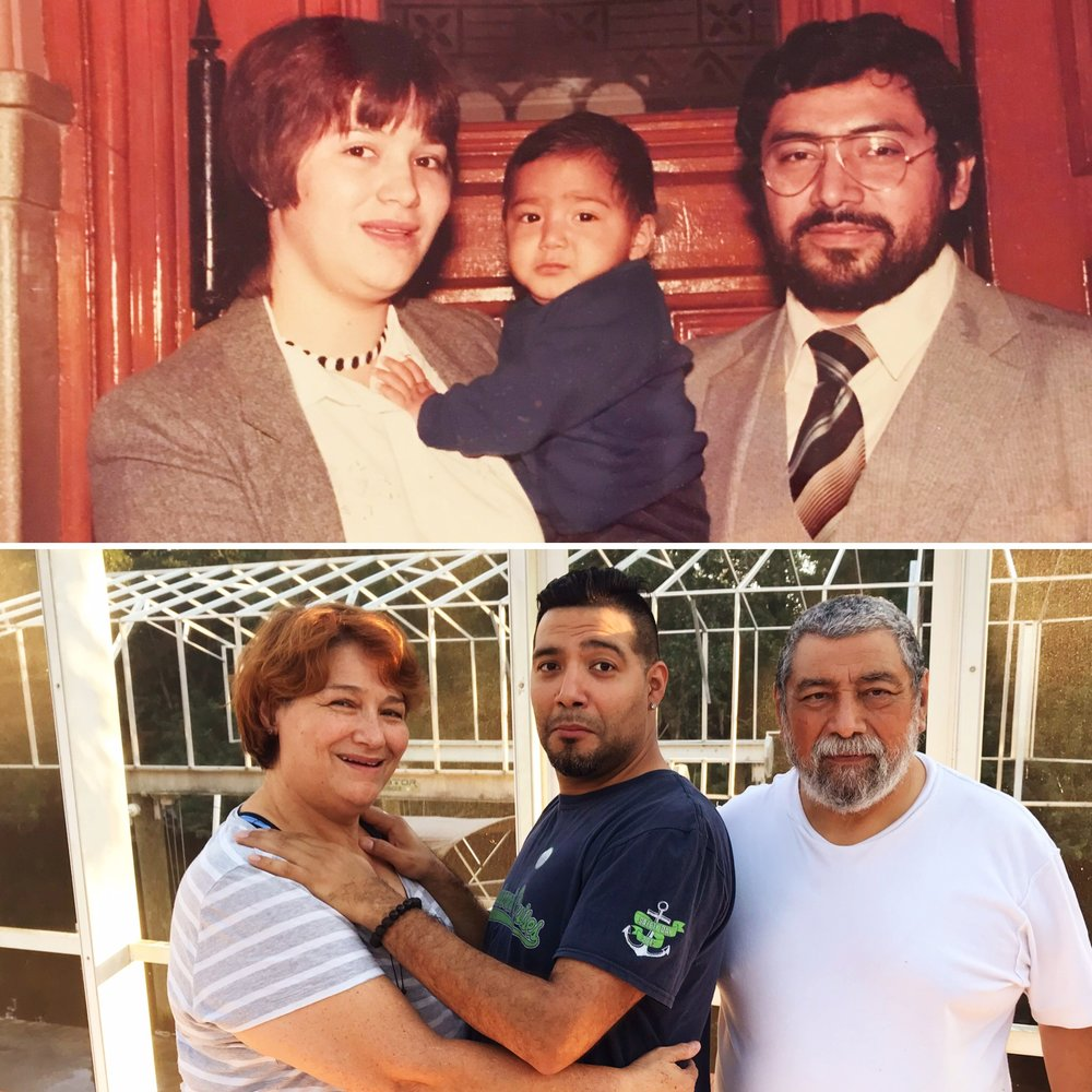 w/ my folks, 36 years later
