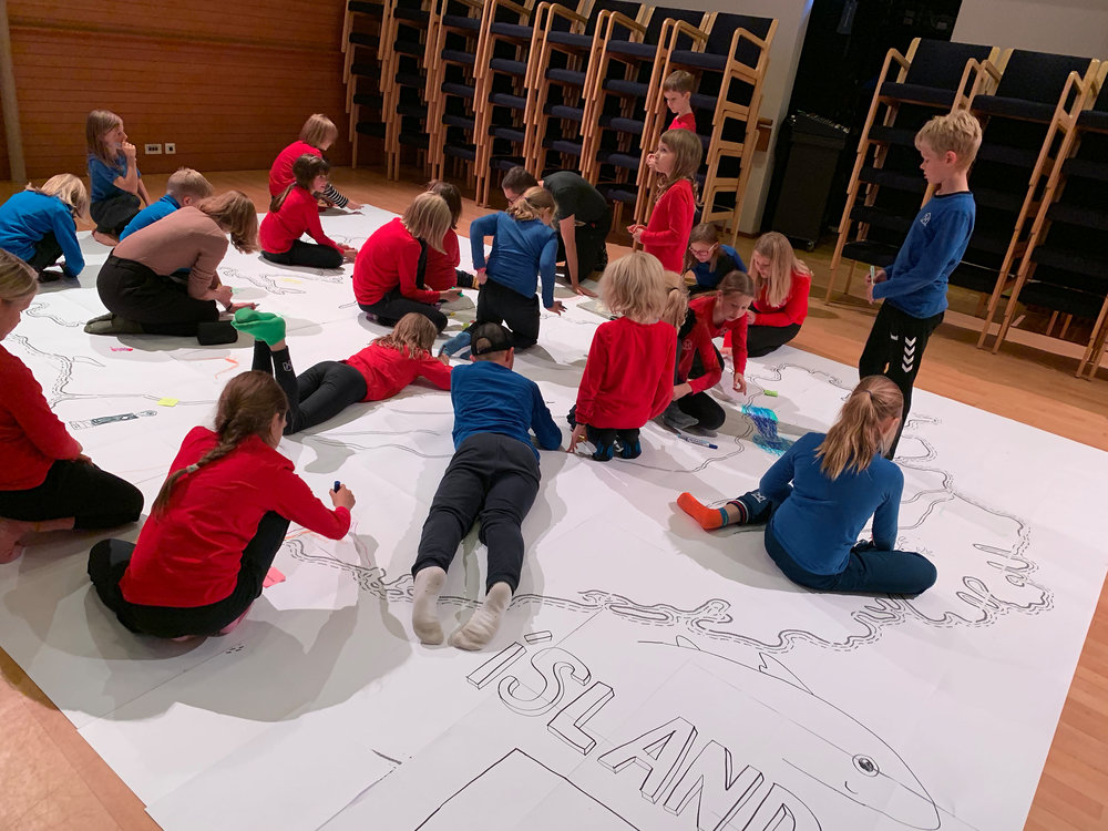 Drawing Iceland on the Children's and Youth Literature Festival In Reykjavik