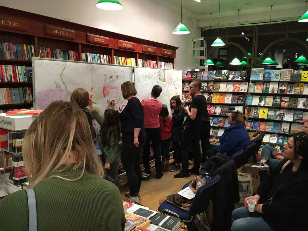 Live drawing at Daunt Books, London