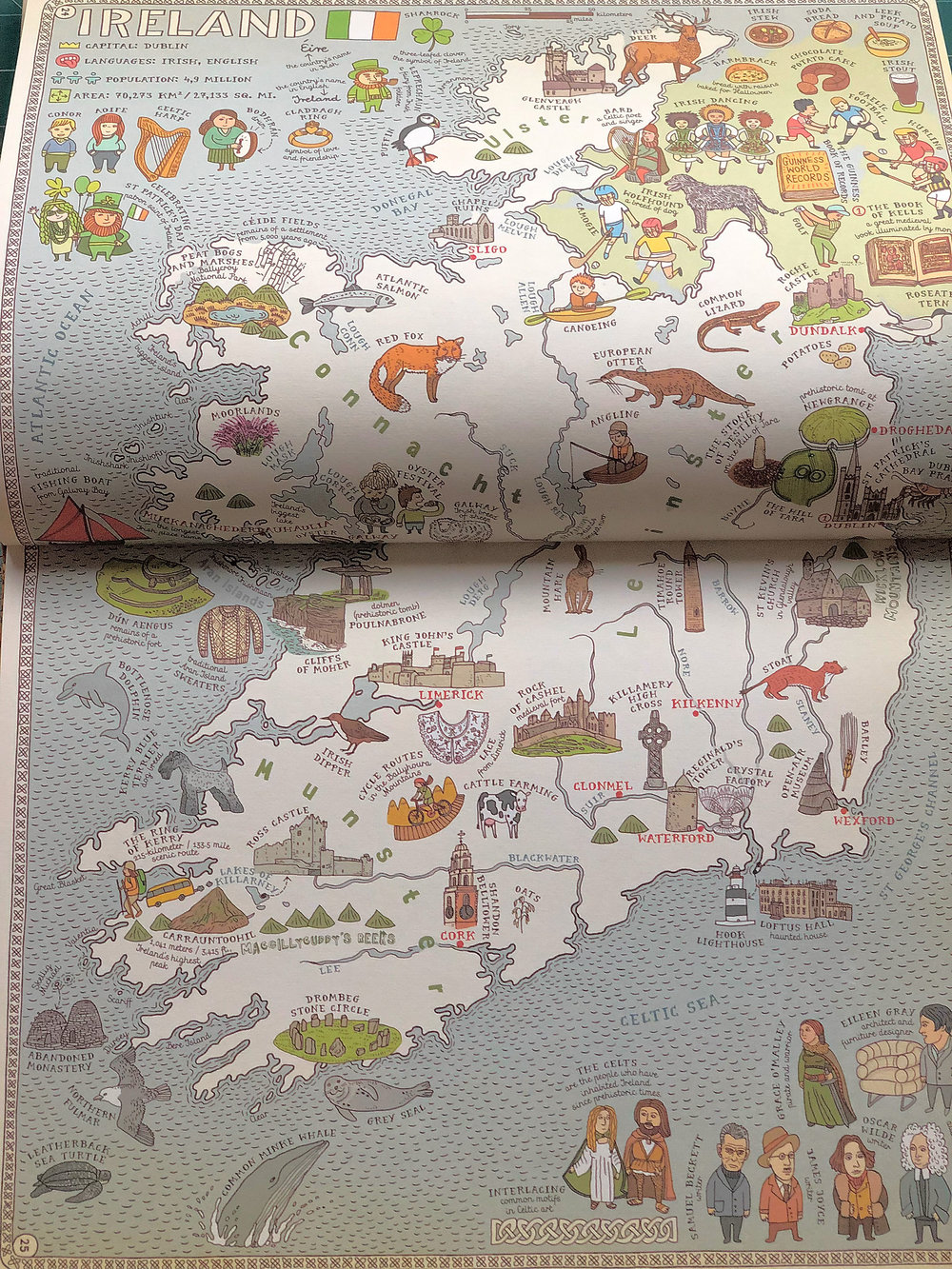 "Ireland in the British edition of ""Maps""."