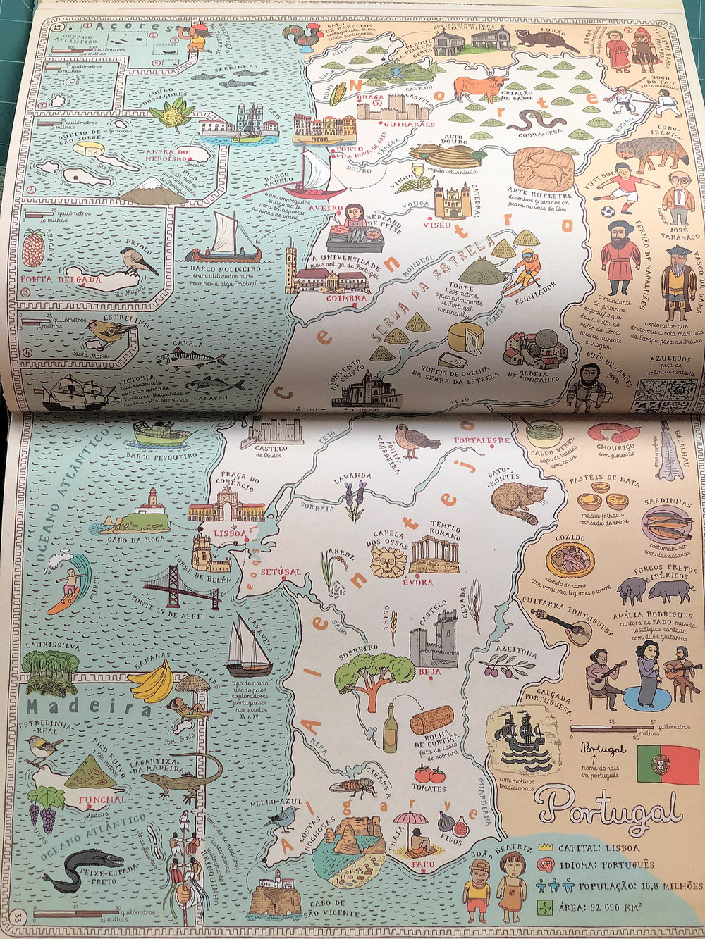 "Portugal in the Portuguese edition of ""Maps""."