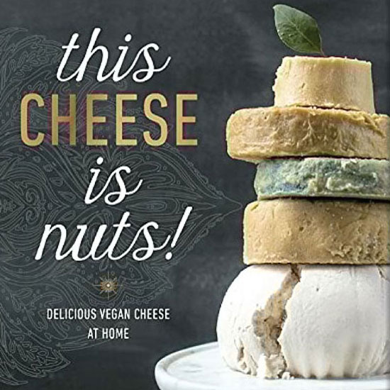 """this cheese is nuts - In This Cheese Is Nuts, Julie is bringing that message to the forefront once more, with a stunning collection of flavorful nut-based cheeses. Julie has always been known for her dairy-free cheeses, and here she shares seventy-five recipes using almonds, cashews, and other nuts to createcheeses anyone can make right at home. Nut-based cheeses are on the cutting edge in the world of vegan cuisine. They're remarkably simple to prepare (all you need are a few simple ingredients and a basic dehydrator), and in as little as twenty minutes, you can have an assortment of tasty fresh cheeses fit for any occasion. Even creating aged cheeses is easy—they require only a day or two inthe dehydrator, so making """"fancier"""" cheeses, like Aged Almond Cheddar, is analmost entirely hands-off process. And though they're delectable on their own,Julie's nut-based cheeses are a terrific component in her recipes for Raw Beet Ravioli with Cashew Truffle Cream, Country Veggie Lasagna with Fennel andBrazil Nut Pesto, French Onion Soup with Cashew Camembert, and more. Filled with the essential tips, tools, and mouth-watering recipes home cooks need to immerse themselves in the world of nut-based cheese-making, This Cheese Is Nuts will demonstrate why nut cheeses should be part of any healthy, sustainable diet.amazon 