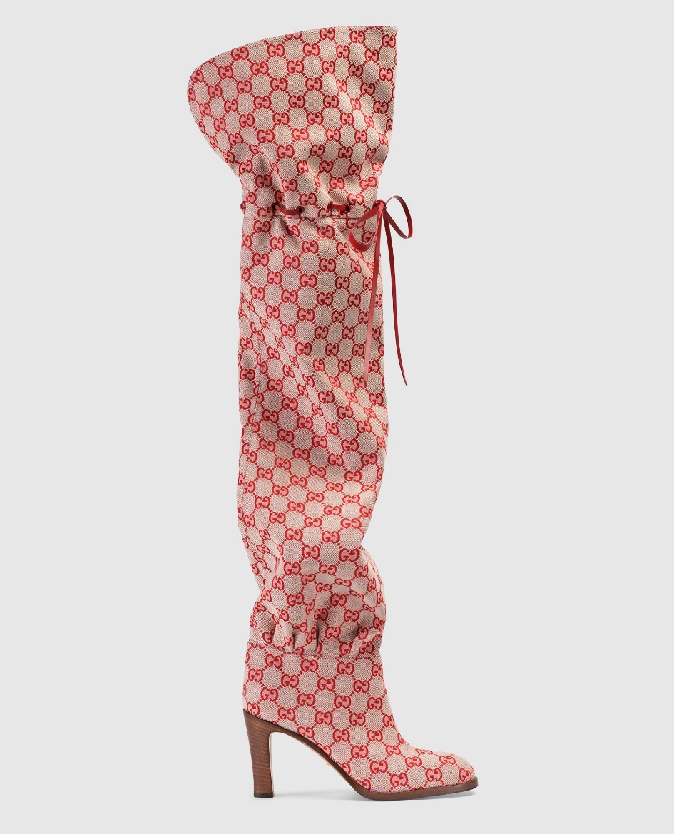 Gucci GG Canvas Over the Knee Boot  $1,790