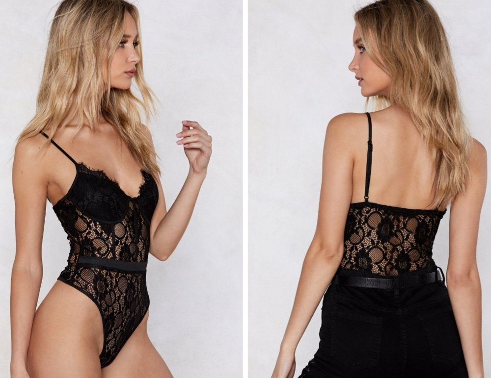 You've Got a Way With Me Lace Bodysuit by NastyGal $44