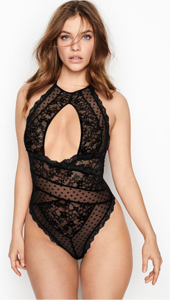 Duo Lace High-neck Teddy by Victoria's Secret $59.50
